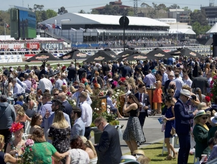 Lawnstand Seating - Melbourne Cup Carnival