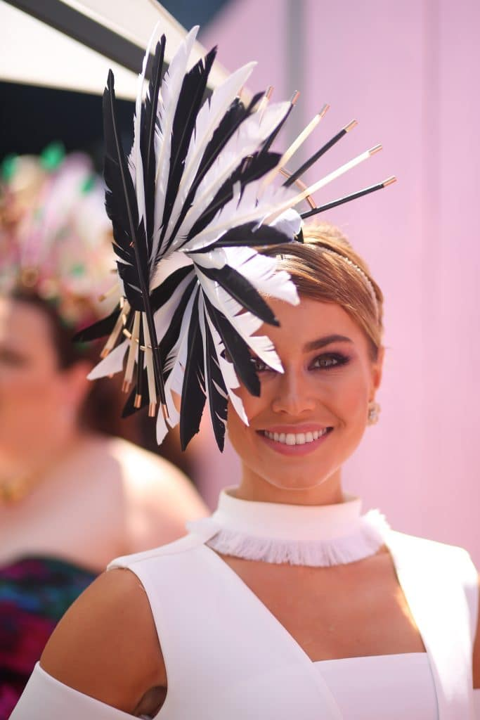 on Crown Oaks Day at Flemington Racecourse on November 3, 2016 in Melbourne, Australia.
