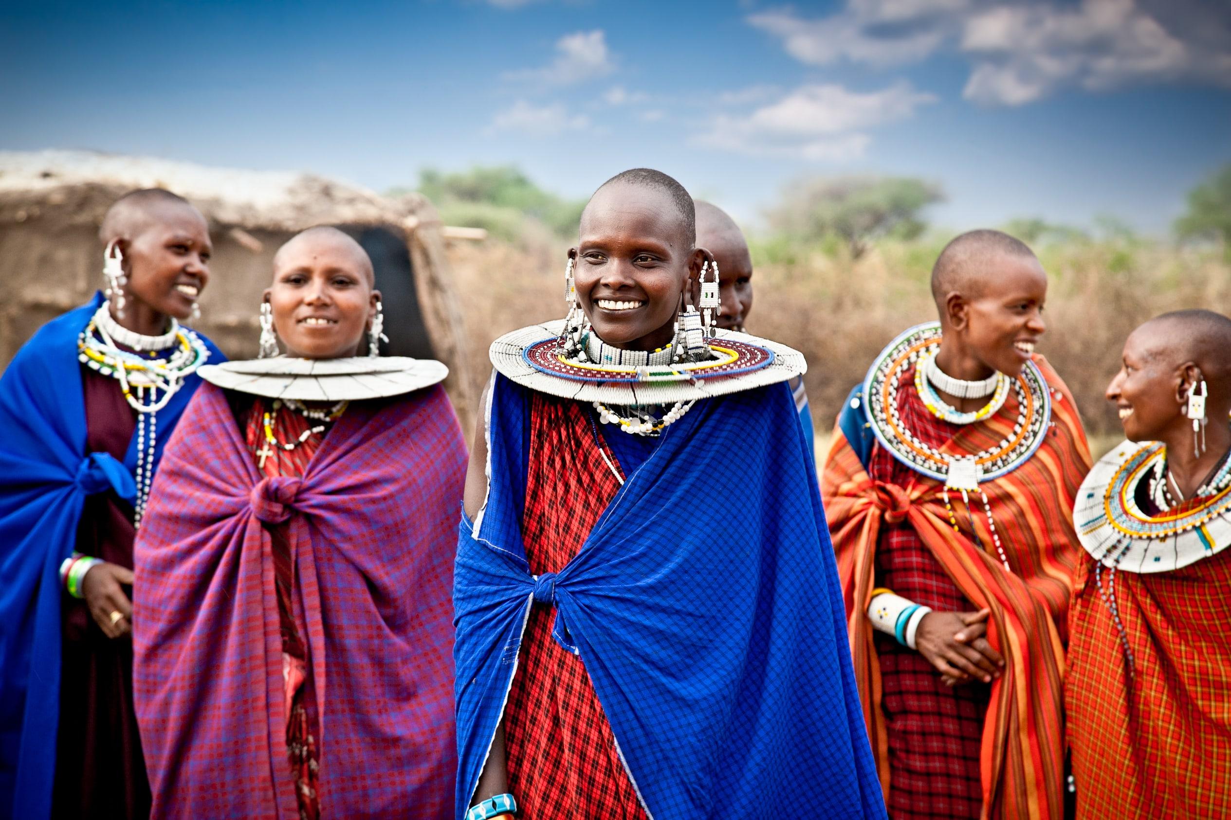 Masai Mara National Park african tribe