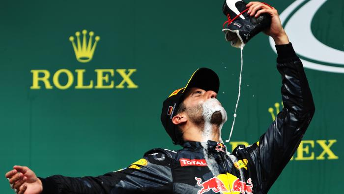 daniel-ricciardo- shoey-greatest-sporting-moments-7