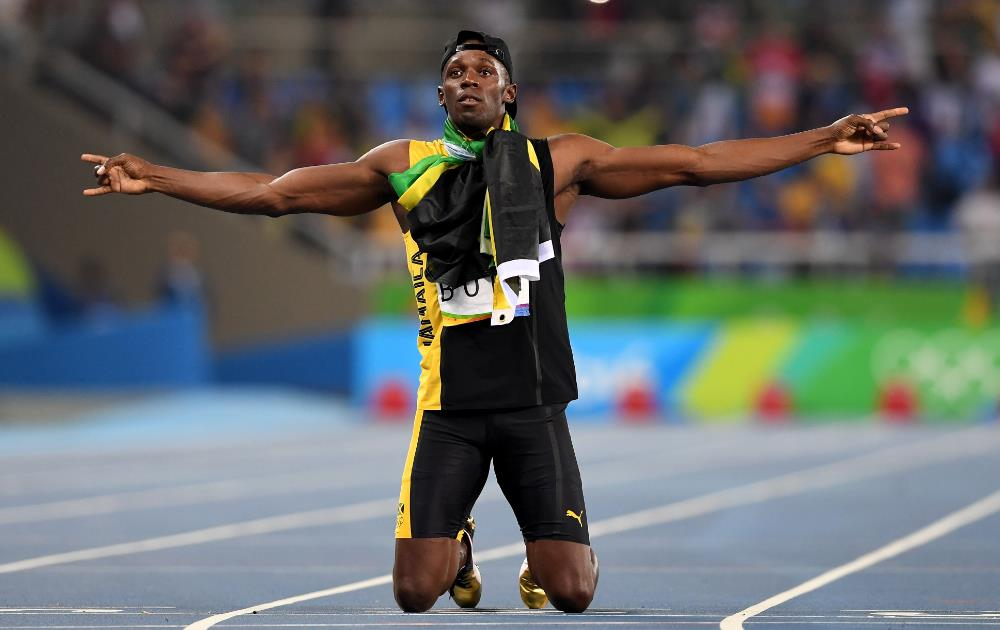 Usain Bolt takes home the triple, three Olympics in a row greatest sporting moment 2