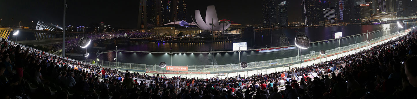 Singapore Grand Prix Tickets - bay grandstand panoramic