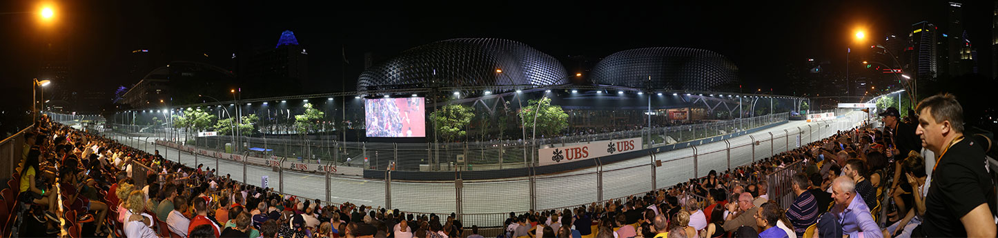 Singapore Grand Prix Tickets - Cannaught grandstand panoramic