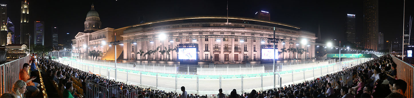 Singapore Grand Prix Tickets - padang grandstand panorama