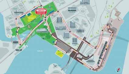 Connaught Grandstand racetrack map Singapore Grand Prix packages