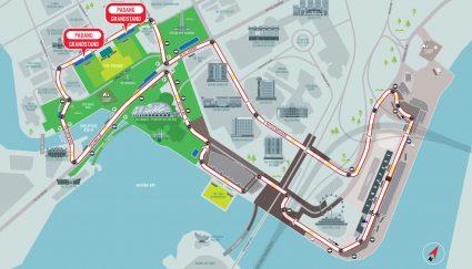 Padang racetrack map Singapore Grand Prix Packages