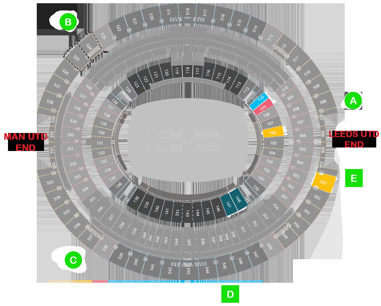 Bankwest Stadium Seat Map