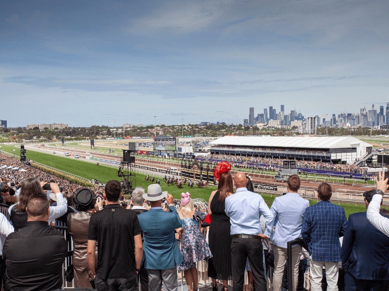 skyline at the melbourne cup
